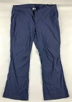 Columbia Womens Omni Shield Pants 22W Blue Gray Active Fit Straight Leg Stretch