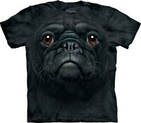 Black Pug Face Dogs T Shirt Adult Unisex The Mountain