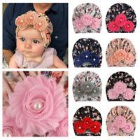 Baby Printed Flower Headwear Baby Turban Hat Beanie Newborn Headwrap Indian Cap
