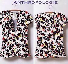 NEW Anthropologie Dahlia Pressed Floral Blazer Jacket Size 6