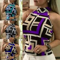 Sleeveless Slim Summer Vest Casual T-Shirt Top Ladies Fashion Blouse Tee Tops