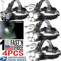350000LM 5X T6 LED Headlamp Rechargeable Headlight  Head Torch 18650 Flashlight