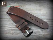 Cinturino in Pelle Bufalo Vintage LS ILLINOIS 24 mm Watch Strap Band Marrone