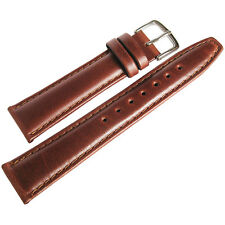 19mm Hadley-Roma MS881 Chestnut Brown Smooth Padded Leather Watch Band Strap