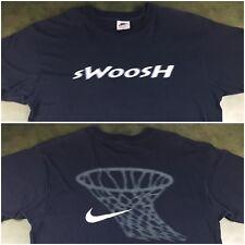 Vintage Mens L 90s Nike Classic Swoosh Basketball Black Graphic Net T-Shirt XL