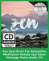 Zen Spa Music For Relaxation Meditation Beauty Spa Salon Massage Relax Audio CD