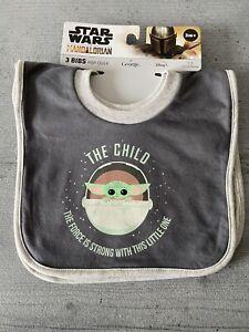 Star Wars Mandalorian Yoda Baby Bibs -  - Popover Style - 3 Pack - New