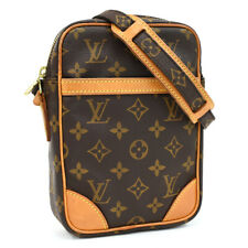Подлинный Louis Vuitton монограмма Дунай M45266 наплечная сумка коричневый холст