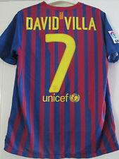 Barcelona 2011-2012 David Villa 7 Home Football Shirt Size Youth /40202