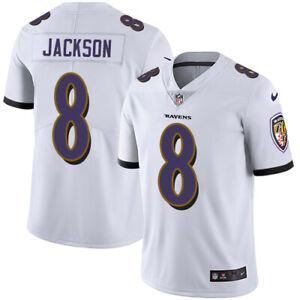 Lamar Jackson #8 Baltimore Ravens Men's N White Jersey