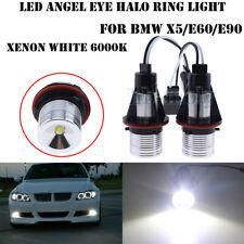 2Pcs LED HALO RING ANGEL EYE MARKER HEAD LIGHT BULBS FOR BMW X5 E60 E90 6W White