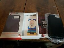 Dark Horse Travel Thruview Premium Leather iPhone 7 Wallet Case Kit! NEW! Black