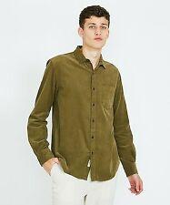 Arvust Collins Longsleeve Cord Shirt Green