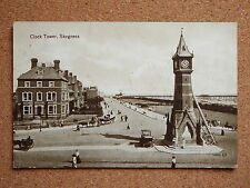 R&L Postcard: Clock Tower Skegness, Valentine's, Horse Carriage