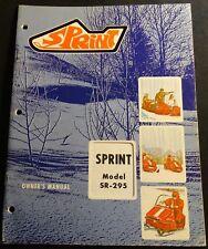 VINTAGE 1970 BOLENS SPRINT SNOWMOBILE OWNERS MANUAL SR-295 (714)