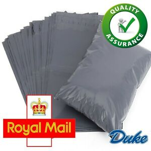 "10 x 14"" Grey Mailing Bags Strong Parcel Postage Plastic Post Poly Self Seal"
