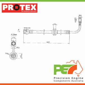 2x New *PROTEX* Hydraulic Hose - Front For. FORD FALCON BA 2D Ute RWD.