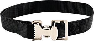 10 - Alligator Clip Nylon Tie Down Straps - Black - 6 Feet