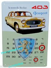 CALENDRIER perpétuel plaque en métal PEUGEOT 403 pub steel wall advertising car