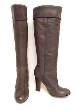 MISS SIXTY Size 6 Taupe Leather Knee High Cuff Boots