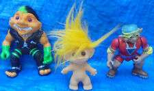 Stone Protectors Troll Force Ace Hasbro Lot of 3 Troll Action Figures 1990's VTG