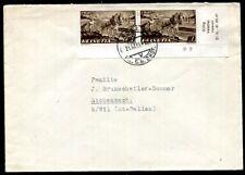 SCHWEIZ 1941 386 ECKRANDPAAR auf FDC 100€+(J9168
