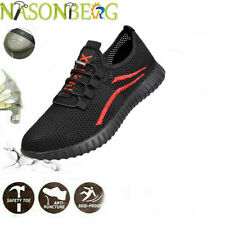 Mens Work Construction Safety Shoes Steel Toe Bulletproof Boots Indestructible
