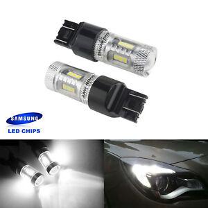 2X Ampoules  SMD 15 LED T20 W21W 582 7440 Feux de Jour diurne Blanc Xenon