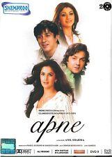 Apne DVD, 2 DVD Set, Dharmendra, Sunny Deol, Bobby Deol, Shilpa, Free Shipping