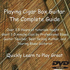 Cigar Box Acoustic Electric Guitar 3 String Tutorial DVD