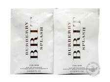 Perfume Vials (Trial Size) ~ Burberry Brit Splash For Him 2ml Edt Spray x2