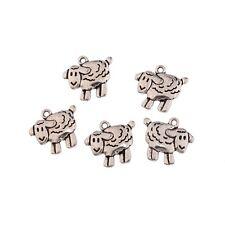 10pcs Sheep Lamb Farm Animal Bead Charms Tibetan Silver Pendant Fit DIY 19*18mm