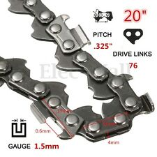 20'' 0.325 76 Links Replacement Chainsaw Saw Mill Chain Link  For Timberpro 62CC
