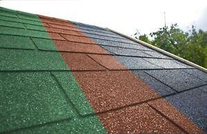 Dachschindeln Rechteck 3m² mit Glasvlieseinlage Bitumenschindeln Gartenhaus Dach