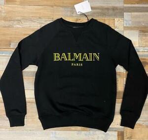 Balmain Paris Velvet Logo Black Sweater