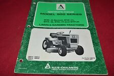 Allis Chalmers 910 912H 914 916H 917H Lawn Tractor Operator's Manual YABE16