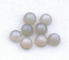 Six 3mm Round Natural Gray Moonstone Cab Cabochon Gem Stone Gemstone EBS2952