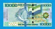 SIERRA LEONE-10000 LEONES-2010-HIGHEST DENOMINATION-PICK 33a-S/N 632273 , UNC .
