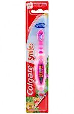 3x Colgate Zahnbürste Smiles 0-2 Jahre Extra Soft, Motiv Dschungeltiere Rosa