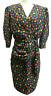 Liz Roberts Petites Women Dress sz 8 vintage 1980s retro 1940s look dot peplum
