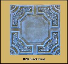 Faux Finish Styrofoam Ceiling Tile R28 Black Blue Just Glue Up