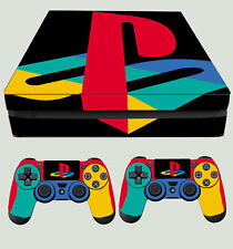 PS4 Slim PLAYSTATION LOGO CLASSIC PS COLOURS Sticker Skin + 2 X Pad decals