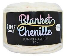 Chenille Blanket Yarn 100g 80m Solid White
