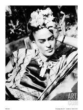 Portrait of Frida Kahlo Art Poster Print, 12x15.5