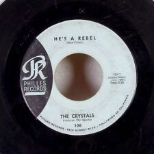 """DOO WOP The Crystals He's A Rebel Phil Spector 7"""" 45 Phillies rare VG/VG+"""