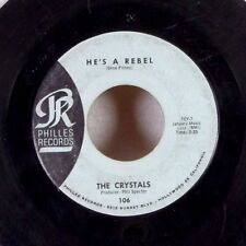 """DOO WOP The Crystals He's A Rebel Phil Spector 7"""" 45 Phillies PROMO rare VG/VG+"""