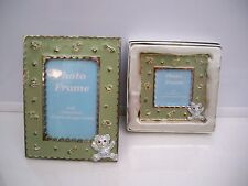 2 PHOTO FRAMES FOR BABY WITH RHINESTONE BEARS BY EMPRESS ACCESORIES