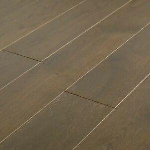 GoodHome Saffle Grey Oak Solid wood flooring, 1.56m² Set  7558
