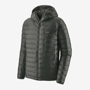 Brand New Patagonia Men's Down Sweater Hoody Jacket in Forge Grey Sz XL 84701