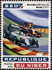 MERCEDES Petronas AMG & RED BULL RB12 Formula One F1 GP Racing Car Stamp (2016)